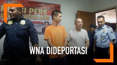 Imigrasi di Timika, Papua deportasi WNA asal China dan Korsel yang bekerja sebagai penambang emas ilegal.