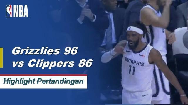Mike Conley mencetak 22 poin dan JaMychal Green menambah double-double dari bangku cadangan (19 poin, 11 rebound) ketika Memphis Grizzlies melepas Clippers, 96-86.