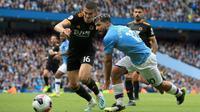Manchester City kalah 0-2 dari Wolverhampton Wanderers pada laga pekan kedelapan Premier League, di Stadion Etihad, Minggu (6/10/2019). (AFP/Lindsey Parnaby)