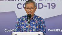 Juru Bicara Pemerintah untuk Penanganan COVID-19 Achmad Yurianto saat konferensi pers Corona di Graha BNPB, Jakarta, Selasa (30/6/2020). (Dok Badan Nasional Penanggulangan Bencana/BNPB)