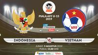 Piala AFF U-15 2019: Indonesia vs Vietnam. (Bola.com/Dody Iryawan)