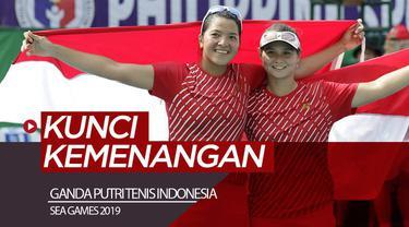 Berita video ganda putri Indonesia, Jessie Rompies / Beatrice Gumulya, mengungkapkan kunci kemenangan mereka di final tenis SEA Games 2019 menghadapi pasangan Thailand.