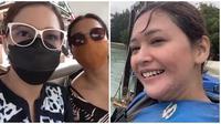 Maia Estianty habiskan liburan serunya bareng Mey Chan dan Richard Kyle. (Sumber: YouTube/MAIA ALELDUL TV)