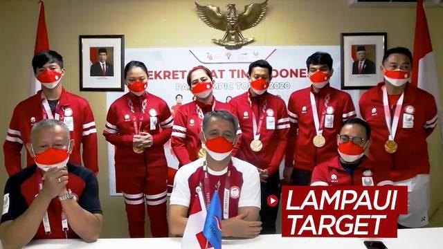 Berita video CdM (Chef de Mission) Indonesia di Paralimpiade Tokyo 2020, Andi Herman, mengungkapkan bahwa pencapaian para atlet telah melampaui target.