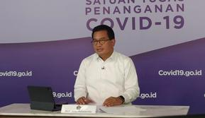 Juru Bicara Satgas Penanganan COVID-19 Wiku Adisasmito mengatakan ada sejumlah pertimbangan yang harus dilakukan sebelum memulai pembelajaran tatap muka di Graha BNPB, Jakarta, Selasa (25/5/2021). (Tim Komunikasi Satgas COVID-19/Damar).