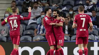 Hasil Liga Champions: Liverpool Menang Besar di Kandang Porto