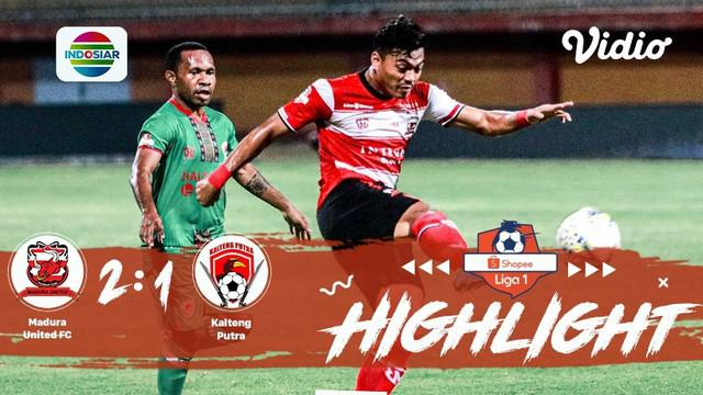 Berita video highlights Shopee Liga 1 2019 antara Madura United melawan Kalteng Putra yang berakhir dengan skor 2-1, Minggu (1/9/2019).