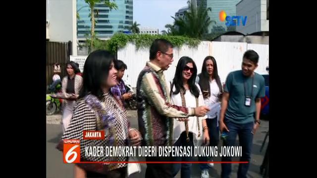 Ada kader Partai Demokrat yang beri dukungan untuk Jokowi-Ma'ruf.