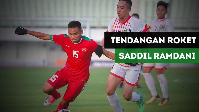 Saddil Ramdani mencetak gol pembuka bagi Timnas Indonesia U-19 vs Timor Leste U-19.