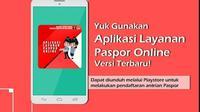 Aplikasi antrean paspor online terbaru. (dok. Instagram @kanimjaksel/https://www.instagram.com/p/Br1mX9-hJTb/Dinny Mutiah)