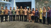 Calon Panglima TNI, Marsekal Hadi Tjahjanto saat menjamu Komisi I DPR usai uji kelayakan dan kepatutan kemarin. (dok. Nico Siahaan)