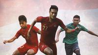 Timnas Indonesia - Osvaldo Haay, Muhammad Rafli, Dendy Sulistyawan (Bola.com/Adreanus Titus)