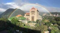 Bak Hadiah dari Langit, Pelangi Berpendar Selama 9 Jam di Taiwan (Chinese Culture University)