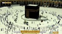 Ibadah umrah di Mekkah pada Senin (19/4/2021). Dok: Quransunnah live