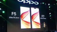 Marketing Plan Oppo Indonesia Suwanto pada peluncuran acara Oppo F7, Selasa (17/4/2018). Liputan6.com/ Agustinus Mario Damar