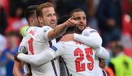 The Three Lions untuk ketiga kalinya lolos ke fase gugur dengan predikat juara grup. Selain pada edisi Euro 2020, hal itu juga terjadi pada edisi Euro 1996 dan Euro 2012. (Foto: AFP/Pool/Laurance Griffiths)