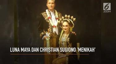 Dunia maya dibuat heboh karena Luna Maya menikah bukan dengan kekasihnya, Reino Barack.