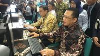 Ketua DPR Bambang Soesatyo lapor SPT Tahunan pada Rabu (20/3/2019) (Foto:Merdeka.com/Dwi Aditya Putra)