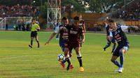 Duel PSM vs Arema di Stadion Andi Mattalatta Mattoangin, Makassar, Minggu (14/10/2018). (Bola.com/Abdi Satria)