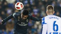 Aksi Casemiro saat Real Madrid kalah dari Leganes (AP Photo/Valentina Angela)