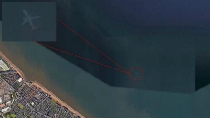 Pesawat Hantu Edinburgh (kredit Google Earth)