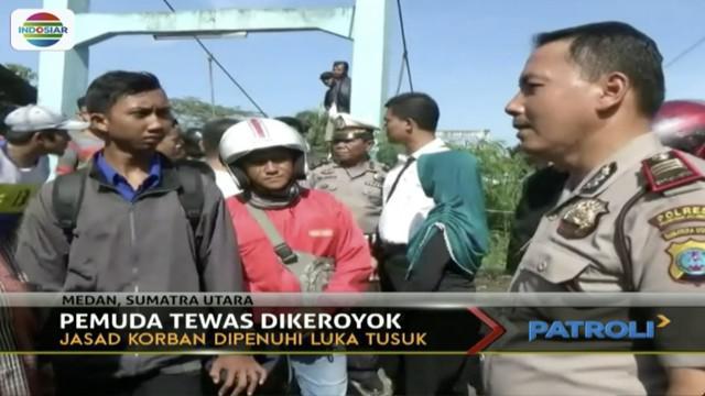 Aparat Polres Pelabuhan Belawan mengungkap kasus pengroyokan berujung tewasnya karyawan pabrik tahu di Medan, Sumatra Utara.