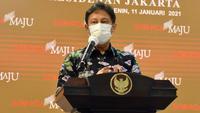 Menteri Kesehatan RI Budi Gunadi Sadikin memberikan keterangan pers usai rapat terbatas di Istana Kepresidenan Jakarta, Senin (11/1/2021). (Humas Sekretariat Kabinet)