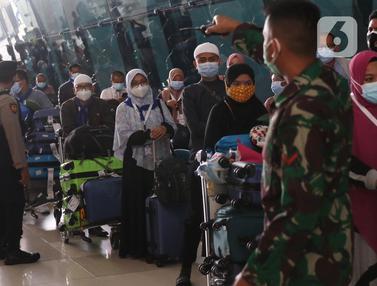 Jemaah Umrah tiba di Indonesia