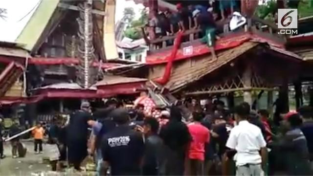 Samen Kondorura, pria berusia 40 tahun itu kehilangan nyawa setelah tertimpa peti jenazah ibu kandungnya sendiri di Lembang Parinding, Kecamatan Sesean, Kabupaten Toraja Utara, Sulawesi Selatan.