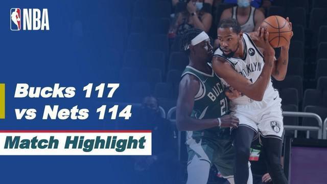 Berita Video Highlights NBA, Milwaukee Bucks Permalukan Tamunya Brooklyn Nets 117-114