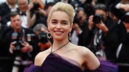 """Aktris yang berusia 32 tahun ini telah membintangi banyak film terkenal lainnya selain serial """"Game Of Thrones"""", sebut saja """"Solo: A Star Wars Story"""", """"Terminator Genysis"""", dan """"Me Before You"""".  (Sumber: AFP)"""