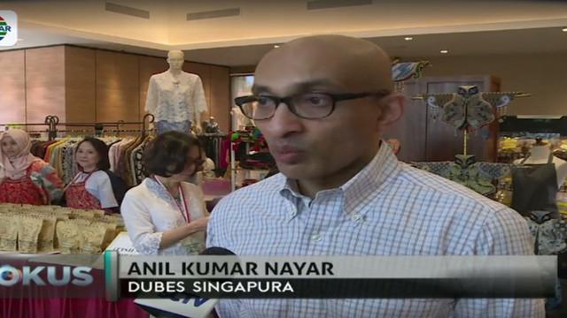 Kegiatan ini dinamakan Rising 50 Charity Bazaar yang memamerkan lebih dari 50 vendor baik itu dari Singapura maupun Indonesia.