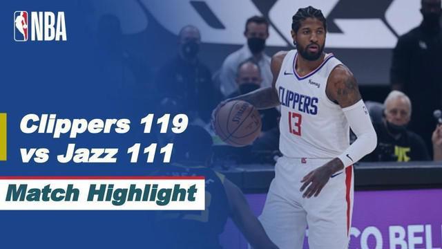 Berita Video, Highlights Semifinal NBA Playoffs Game 5 LA Clippers Vs Utah Jazz (119-11) pada Kamis (17/6/2021).