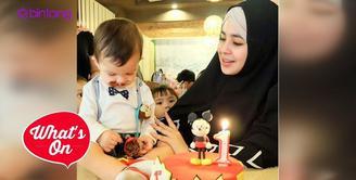 Risty Tagor dan Stuart Collin sama-sama buat pesan menyentuh di hari ulang tahun anaknya, Arkana Rafif Bisyari yang pertama.