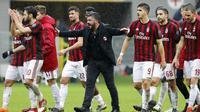 Pelatih AC Milan, Gennaro Gattuso, menyebut penampilan buruk Hakan Calhanoglu jadi salah satu penyebab kekalahan 1-3 atas Juventus. (AP Photo/Antonio Calanni)