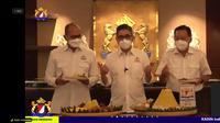 Managing Director Sinar Mas Group Gandi Sulistiyanto (Kanan) dalam acara Syukuran HUT Ke-53 Kadin Indonesia, Jakarta, Jumat (24/9/2021).