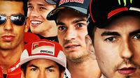 MotoGP - 5 Rival Valentino Rossi Berusia Lebih Muda tapi Sudah Pensiun (Bola.com/Adreanus Titus)