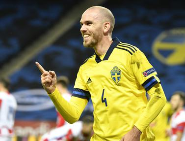 FOTO: Pecah Telur, Swedia Tekuk Kroasia 2-1