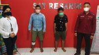 Polres Gorontalo, berhasil menangkap dua pelaku pencurian Handphone yang akhir-akhir ini kerap meresahkan warga Kabupaten Gorontalo.(Arfandi Ibrahim/Liputan6.com)