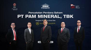 Pencatatan saham PT PAM Mineral Tbk pada Jumat, (9/7/2021) (Dok:BEI)