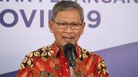 Juru Bicara Pemerintah untuk Penanganan COVID-19 Achmad Yurianto saat konferensi pers Corona di Graha BNPB, Jakarta, Senin (29/6/2020). (Dok Badan Nasional Penanggulangan Bencana/BNPB)