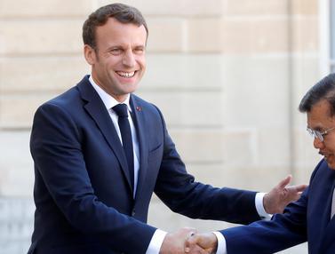 Hadiri KTT Paris, Wapres JK Disambut Presiden Macron