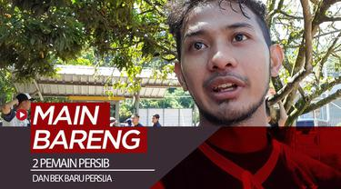 Berita video momen dua pemain Persib Bandung dan bek baru Persija Jakarta bermain bersama di Lapangan Lodaya, Bandung, untuk menjaga kondisi fisik saat belum ada pertandingan resmi.