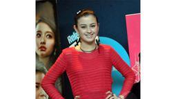 Kimberly Ryder mengaku belum menemukan cowok yang cocok sebagai pengganti Kevin Julio, Jakarta, Senin (21/07/2014) (Liputan6.com/Panji Diksana)