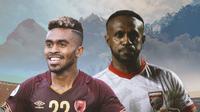 Ilustrasi - Duel PSM Makassar Vs Borneo FC: Yacob Sayuri Vs Boaz Solossa (Bola.com/Adreanus Titus)