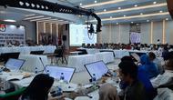 Suasana rapat pleno rekapitulasi suara di KPU, Senin (20/5/2019) malam. (Liputan6.com/Yopi Makdori)