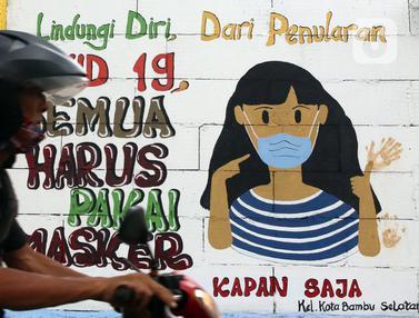 FOTO: Mural 3M Ingatkan Masyarakat Akan Protokol Kesehatan