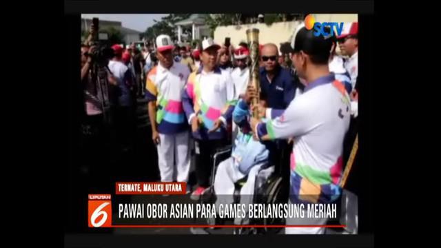 Ternate jadi kota pertama yang disinggahi obor api Asian Para Games 2018.