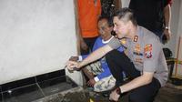 Polisi bongkar kasus dugaan pembunuhan di Jember (Foto:Liputan6.com/Dian Kurniawan)