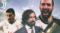 Juventus - Andrea Pirlo, Sami Khedira, Gonzalo Higuain (Bola.com/Adreanus Titus)